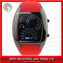 R36 Eco-friendly PU watch winner with digital movement of watch winner