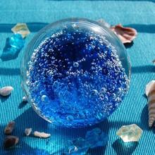 Wholesale New Arrival Hand-blown Blue Bubble Glass Ball Ornament