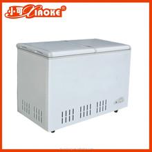 BD-538T double top door deep fridge with solar energy