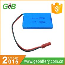 800mAh 3.7V li polymer battery pack for electronic products