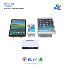 Retail anti-theft devices,central display alarm system for mobile phone/tablet display with charger A36-2port