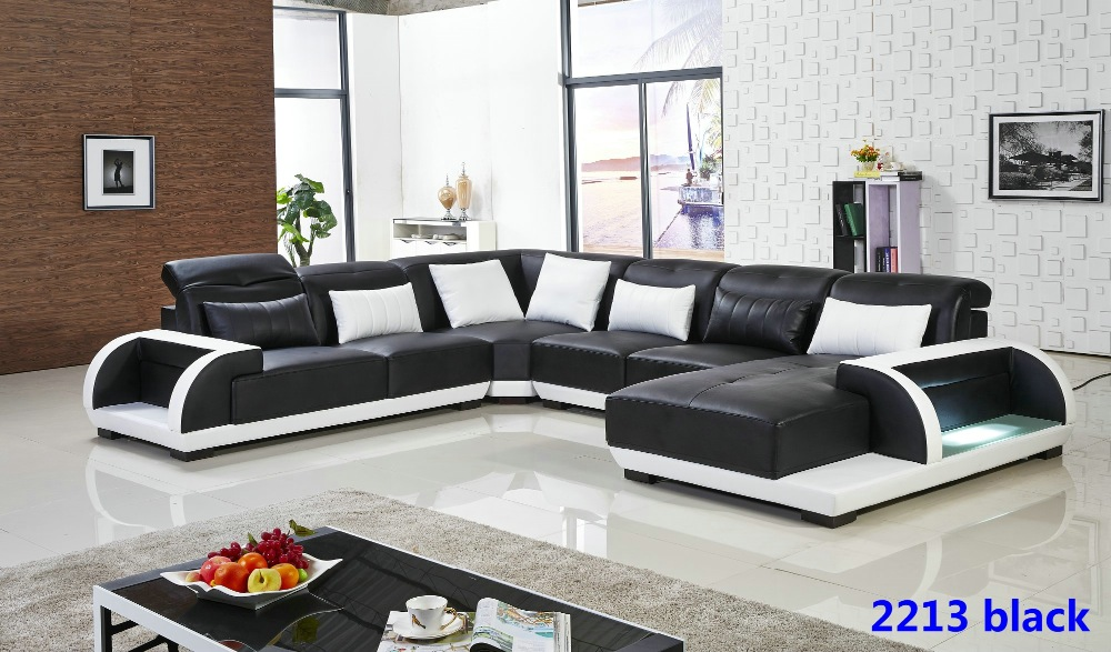 2015 new design living room furniture luxury leather for Latest sofa designs for living room
