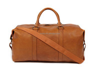 New trendy camel luggage bag genuine leather pictures of travel bag