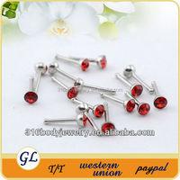 NR01038 crystal piercing attractive design nose ring