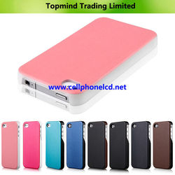 2015 hot selling leather case for iphone 6 two mobile phones leather case in stock