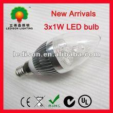 3W E27/E14 Warm White High Power LED Ball Globe Light Lamp Bulb Scew base AC 85-265V