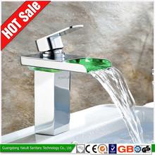 Classic and elegant led bath basin tap, temperature sensitive faucet light