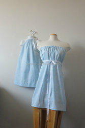 2015 Cheap Wholesale Smocked Dress Mommy and Me Family Dress Set Cotton Dress for Girls