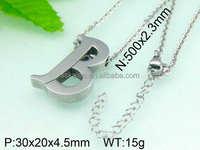 Hot sale silver jewelry unisex small alphabets pendant designs