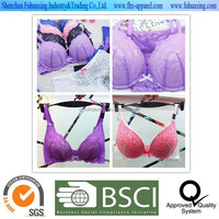 2015 hot sell high quality fashion favorable wholesale sexy transparent push up bra panty set/underwear/lingerie/intimates with
