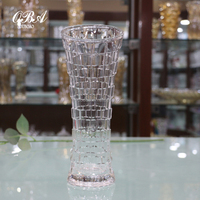 Factory direct sale transparent crystal glass vase & square design glass vase