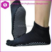 Pilates Toe socks full toe grip bella Black Large