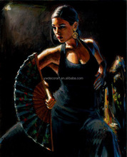 Fabian Perez hand paint sexy girl Canvas Oil Painting