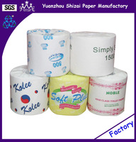Toilet tissue recycle, White, 2 ply, 4.4 x 3.75 Sheet, 500 Sheets Per Roll