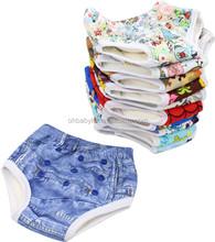 Ohbabyka Bamboo Fiber Waterproof Potty Training Pants High Waist Baby Pants