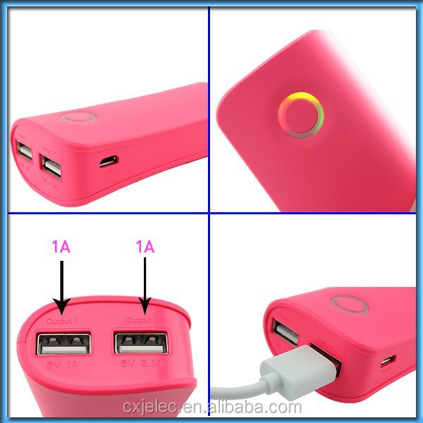 Fashional Patent Dual USB 4000mah Battery Bank External Battery Charger, Manual for Power Bank Battery Charger