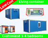 low cost prefab cabin cheap container house