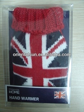 reusable custom hand warmer with warm knitted cover