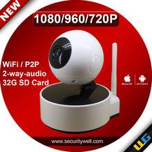 Pan Tilt dome 2.0 Megapixel HD Wifi Security Camera