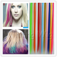 stock crazy colored synthetic hair extensions wholesale chinese website