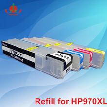 For HP970XL HP971XL CISS Refill ink cartridge with chips for HP officejet Pro X451dn,X451dw,X476dn,X476dw,X551dw,X576dw printer
