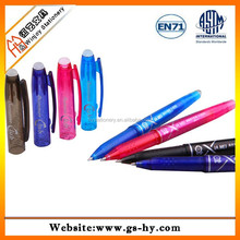 Plastic colored promotional erasable ball pen /eraser pen/roller eraser ink pen