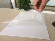 UV resistant plastic pvc sheet; 0.28mm white glossy pvc sheet for offset printing
