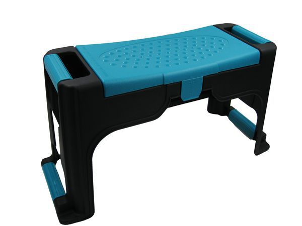 Plastic garden kneeler seat with tool storage and knee pad for Gardening tools jakarta