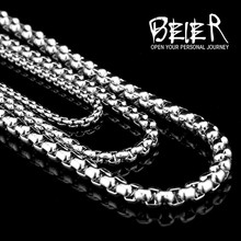 2.5MM/3.5MM can mix Width 316L Stainless Steel Pearl Necklace Chain Pendant Match Chain hot sale bracelet