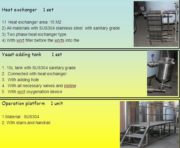 2014 new updated technology Brewery equipment