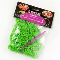 300pcs per bag + 12pcs S + 1 clips crazy loom rubber bands