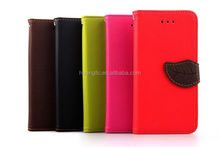 Wholesale stand leather wallet case for apple iphone 6 best price