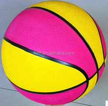 Fashion colorful rubber basketball with custom printing