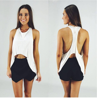 2015 hot sale wholesale backless sexy white crop top for women ladies tops ZC1738