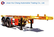 Best Seller 2/3-axle 20-53ft Skeleton Container Transport Chasis Semi Trailer For Sale