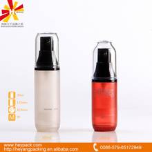 20ml 30ml airelss pump lotion cylindrical plastic container