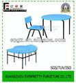 Confortável círculo criança mesa e cadeira/rodada cadeira de criança mesa/semicírculo de mesa e cadeira de fotos