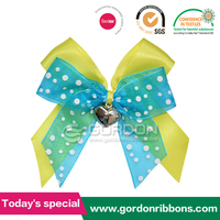 organza and satin ribbon packing bow with double tape