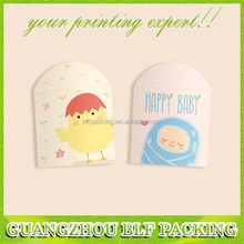 (BLF-PB1352) full color printing money packet for new born baby