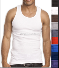 Top Quality 100% Premium Cotton Mens A-Shirt Wife Beater Ribbed MENS Tank Top