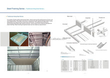 Hot sale galvanized steel keel / light steel hang keel construction / light steel framing series