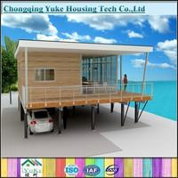 2015 hot sale durable prefab beach house for sale