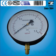 200mm or 8 inch pressure gauge movement brass and C type bourdon tube