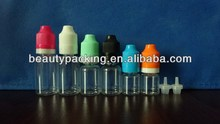 10ml 15ml 20ml 30ml PET needle bottle for e-liquid juice flavor with childproof and tamper evident seal cap