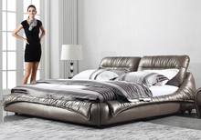 Modern bedroom furniture bed leather bed made in China CS605