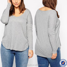 plus size women clothing wholesale cheap custom tri-blend t shirt plus size long sleeve tshirt for women