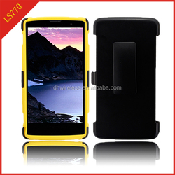mobile phone H stand case for LG stylus LS770,pc silicone combo cover for LG LS770