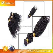 Natural Color Soft Unprocessed Raw Admire Hair 100% Brazilian Virgin Jerry Curl Weave Extensions Human Hair