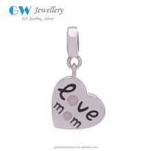 Heart Pendant Wholesale 925 Sterling Silver Love Charms S147