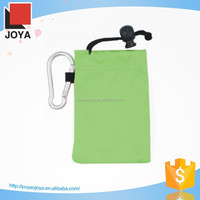 quality guaranteed soft cell phone pouch with carabiner